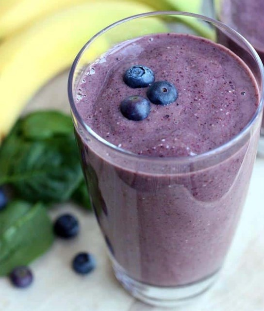 Power Smoothie (Blueberry, Banana, Oat) #smoothie #healthydrink