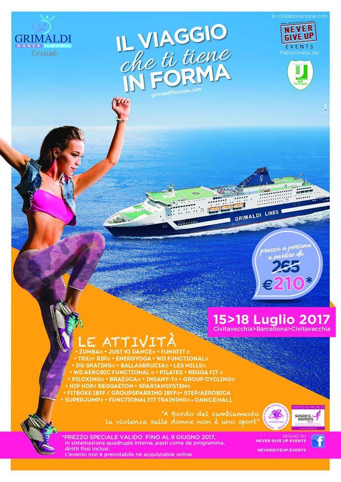 Grimaldi Dance Fit Cruise - dal 15 Luglio al 18 Luglio 2017 in crociera