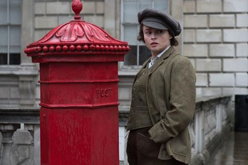 Helena Bonham Carter and post box