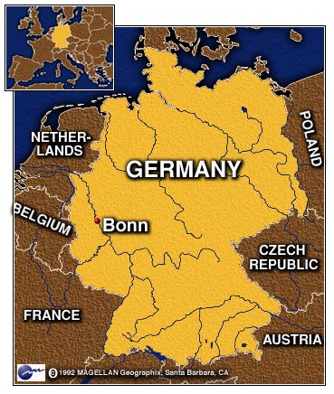 Carte Allemagne Bonn.Bonn Allemagne Carte