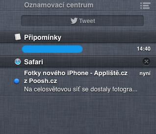 Poosh centrum - Notifikace pro Safari - Poosh