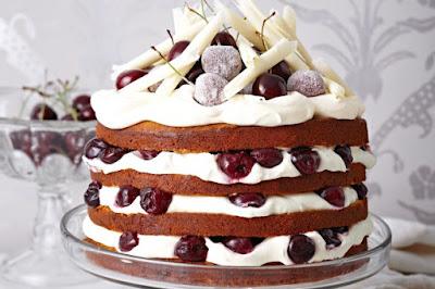 White chocolate black forest cake desserts recipes