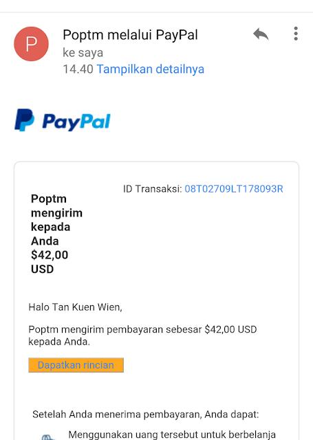 Bukti Pembayaran dari PopTM