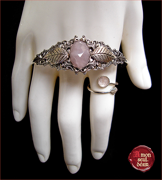 Quartz Rose Parure Bijoux Pink Quartz Jewelery Woodland Jewels Elven Fairy