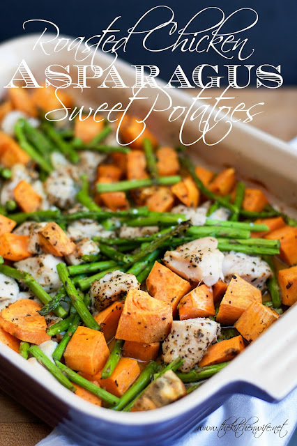 Roasted Chicken with Asparagus and Sweet Potato Recipe - ~The Kitchen ...