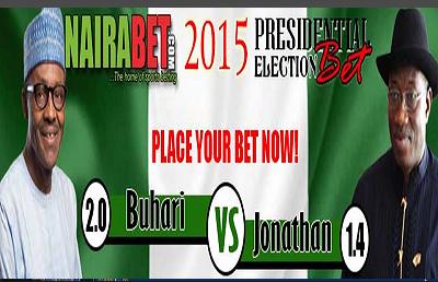 Stake Your Bet On Jonathan Vs Buhari Election On Nairabet