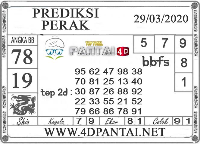 PREDIKSI TOGEL PERAK PANTAI4D 29 MARET 2020
