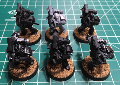 Horus Heresy First Legion Heavy Support Squad WIP mark IV plate and missile launchers