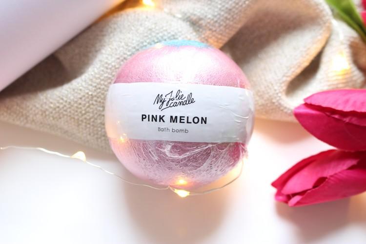 Boule-bain-Pink-melon-Myjoliecandle