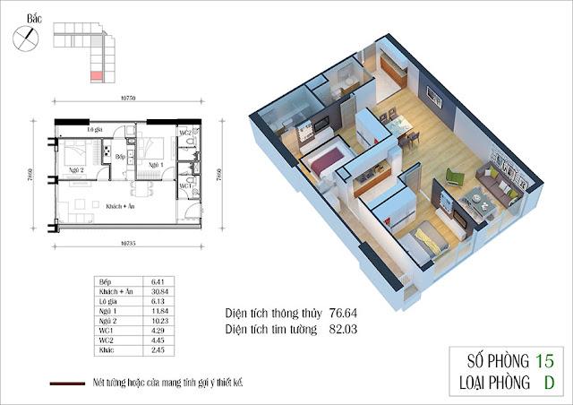Thiết kế căn hộ 15 tòa CT2 Eco Green City