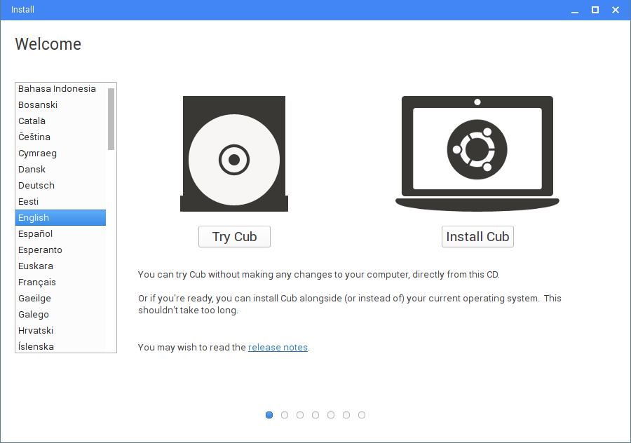 Cub Linux - best of Chromium with best of Ubuntu ~ BE OPEN SOURCE
