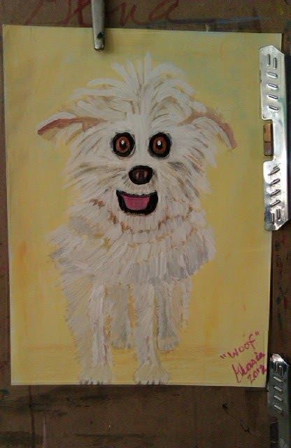 """Woof"" sketch small puppy by Gloria Poole of Missouri"