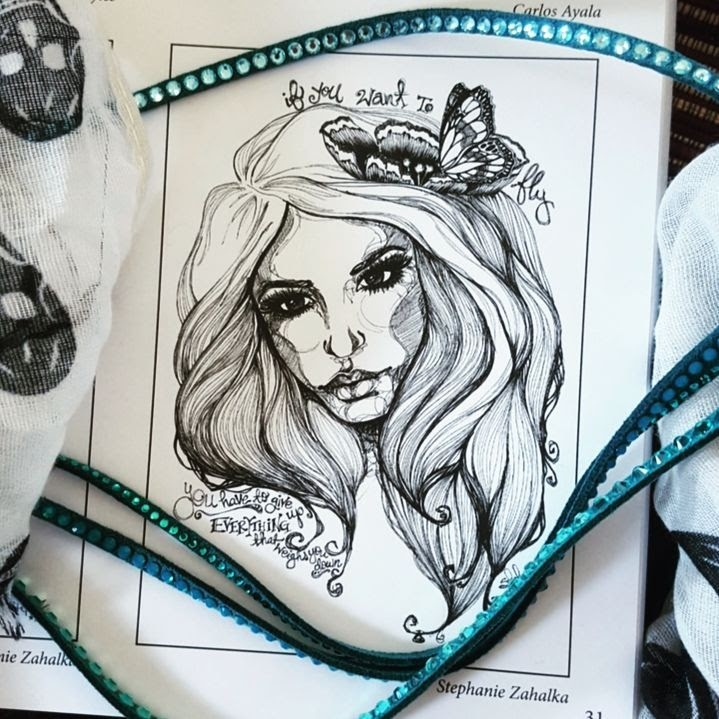 11-If-you-want-to-fly-Steph-Diaz-Zahalka-A-Compilation-of-Different-Portrait-Style-Drawings-www-designstack-co