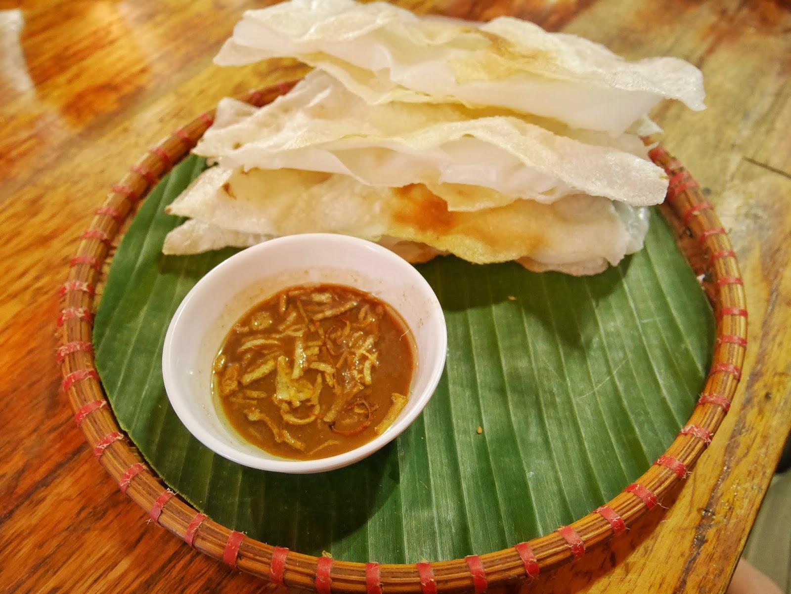 Banh Dap or smashing rice paper food of Hoi An, Vietnam
