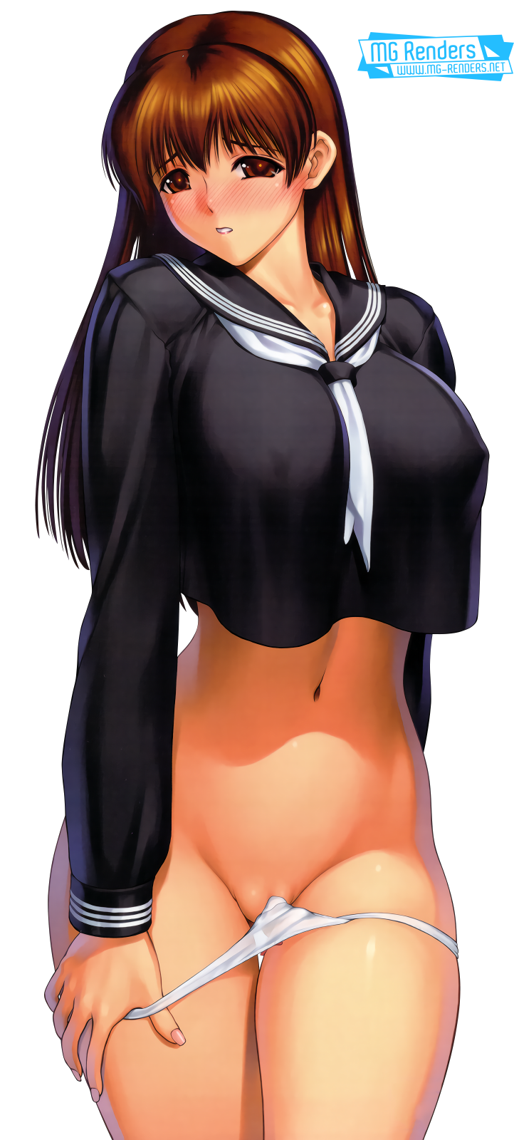 Tags: Anime, Render,  Dead or Alive,  Huge Breasts,  Kasumi,  Pantsu,  PNG, Image, Picture