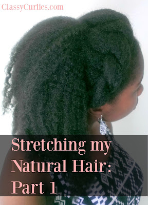 stretching natural hair