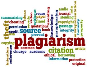 plagiarism word cloud