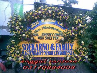 bunga papan duka cita dari soekarno dan family