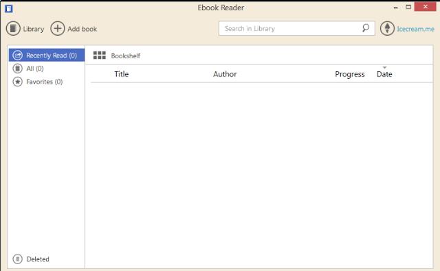 تحميل برنامج انشاء مكتبة PDF مجانا Icecream Ebook Reader