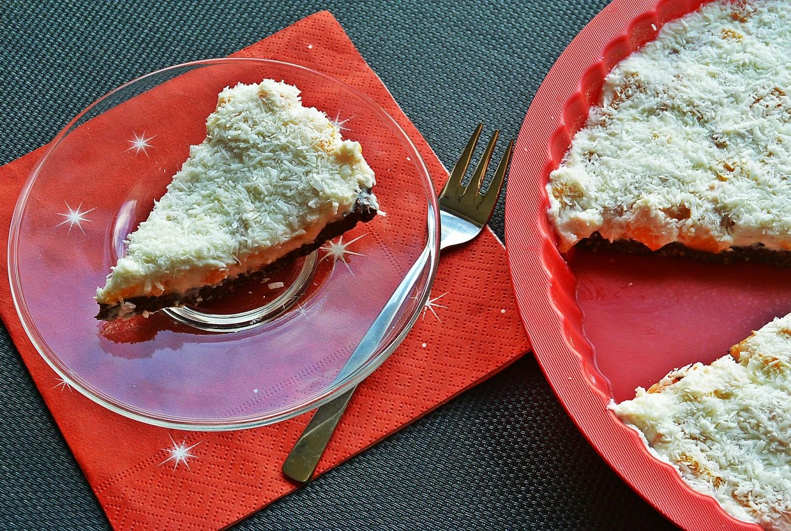 Tarta brzoskwiniowo - kokosowa
