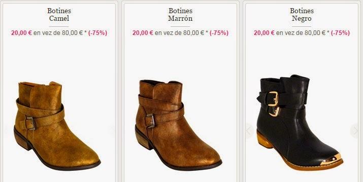 Algunos de los modelos de botines que tienes disponibles en esta venta