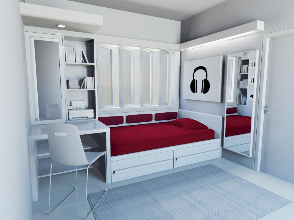 Anton Kurniawan Portofolio: SINGLE BEDROOM DESIGN