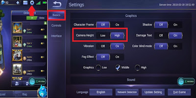 cara memperluas layar mobile legends