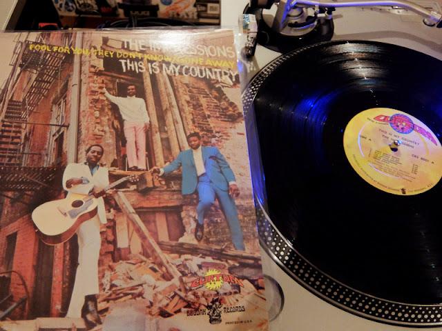 インプレッションズの「This is my country」のレコードです。