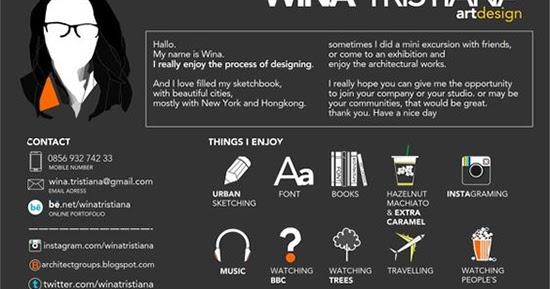Contoh desain curriculum vitae cv kreatif  1000 Inspirasi Desain Arsitektur Teknologi