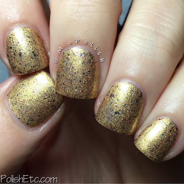 Awesome Sauce Indie Box - Mermani - McPolish - Lavish Polish Golden Mermaid