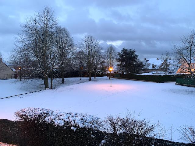 paysage de neige les petites bulles de ma vie