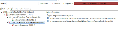 Java Lang NullPointerException in Selenium
