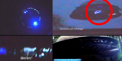 Alien caught on camera inside a UFO at the controls.