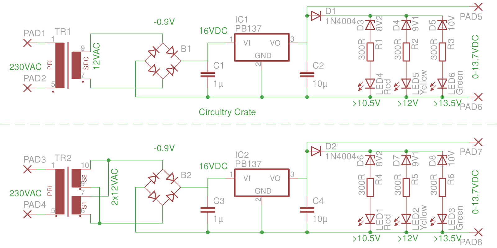 Circuitry Crate 1kiss Lead Acid Battery Charger With Pb317 Diagram