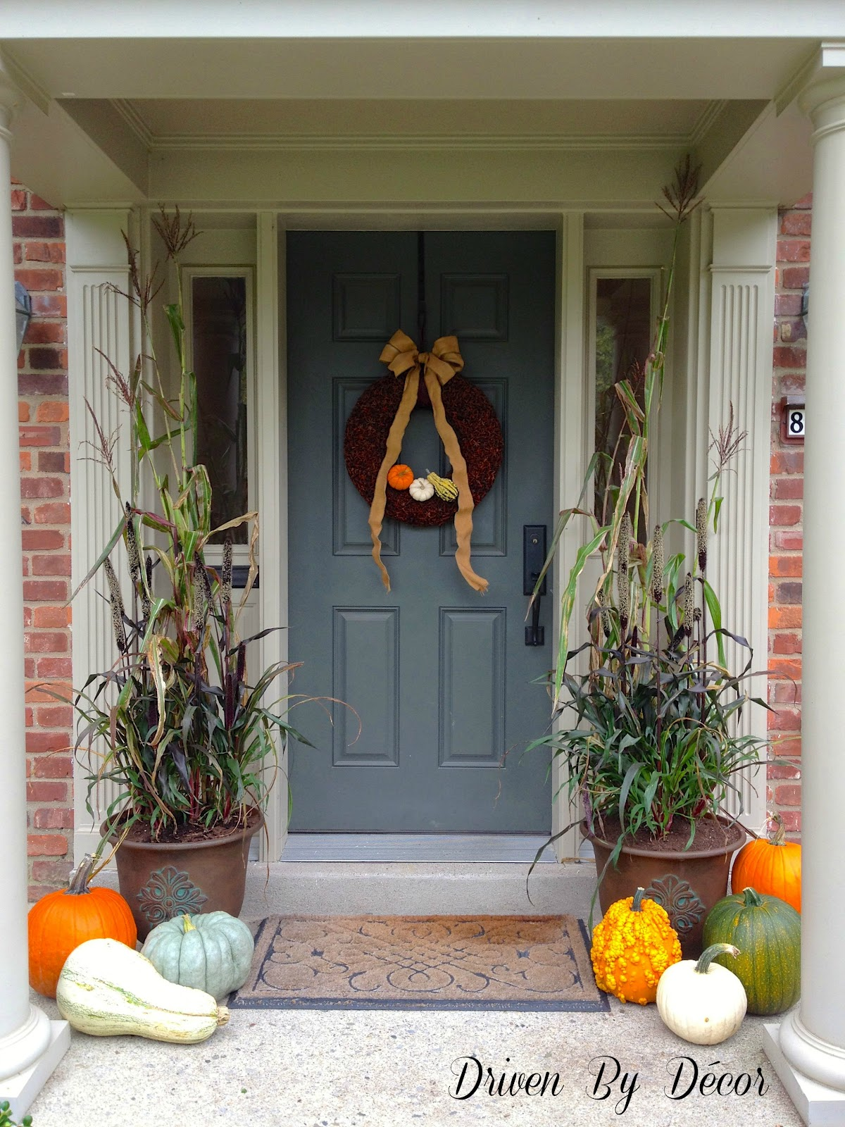 Decorating my front porch for fall driven by decor Small front porch decorating ideas for fall