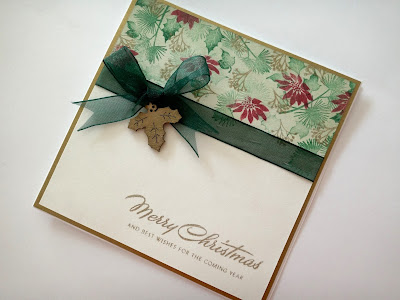 Hand made Christmas card with card-io classic christmas stamp set