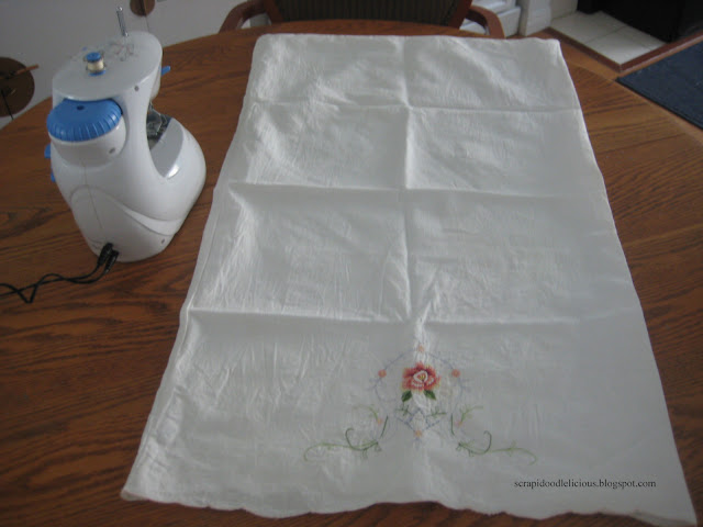 Scrapidoodlelicious Upcycle Pillow Case
