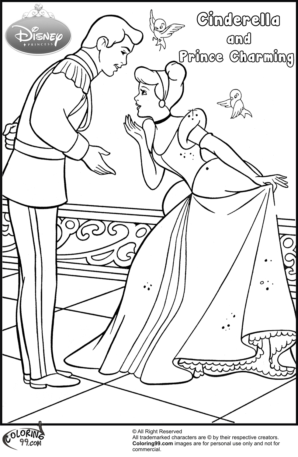Fans Request - Cinderella and Prince Charming Coloring ...