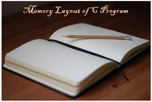memory layout of C program