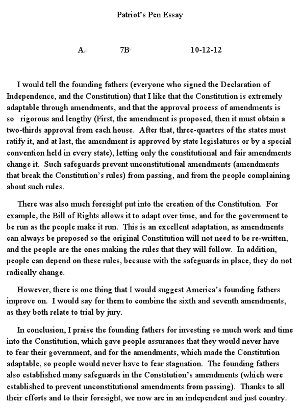 the constitution understood essay The 5-7 essay: contains a thesis which addresses the topic of the question (limited development) has limited analysis and exhibits limited understanding of complexity is mostly descriptive deals with only one aspect of the question in some depth or deals with both aspects in a more general way supports thesis with some information.