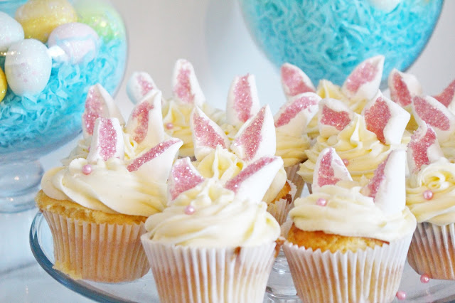 Baking with Littles: Easter Bunny Cupcakes