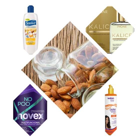 oleo de amendoas produtos cabelo