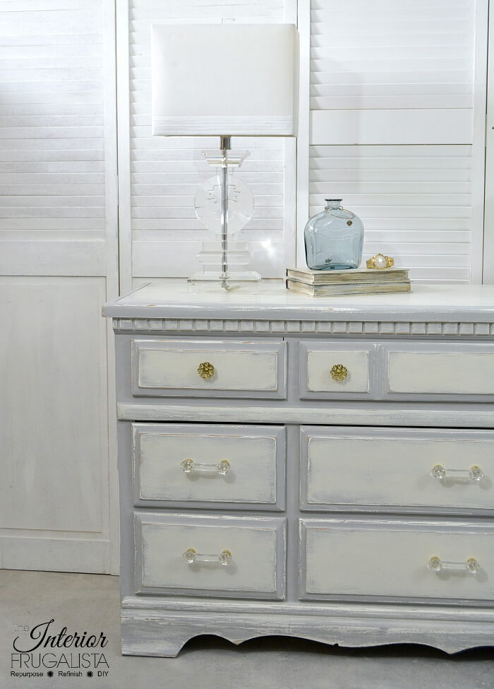 Farmhouse 9-Drawer Dresser Makeover Left Side After