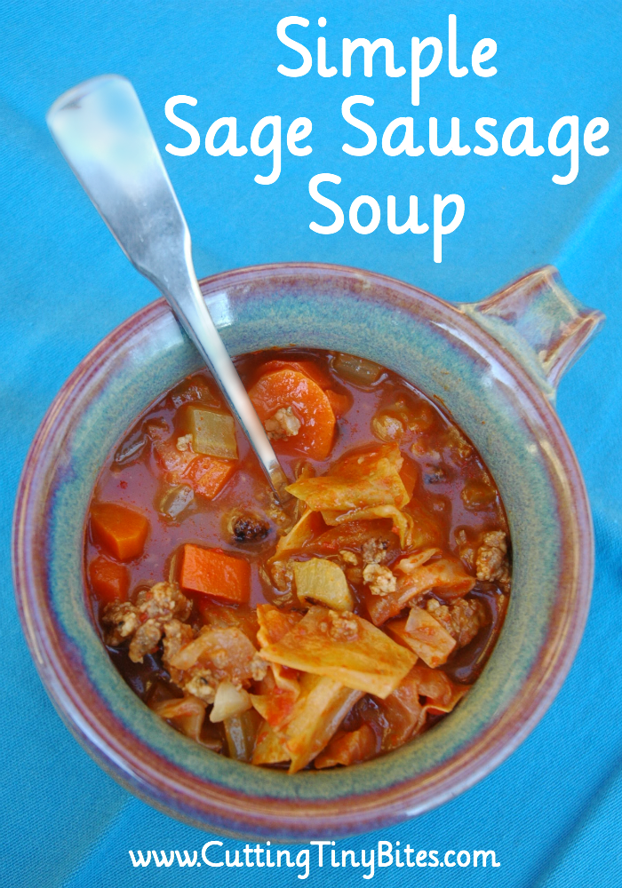 Simple Sage Sausage Soup- Delicious soup for fall. Six simple ingredients.