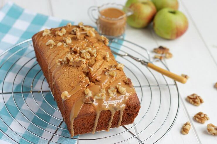 Caramel and Bramley Apple Loaf Cake