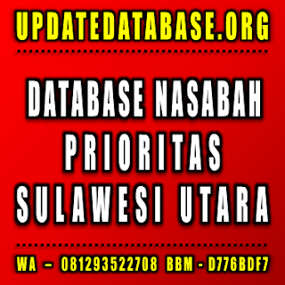 Jual Database Nasabah Prioritas Sulawesi Utara