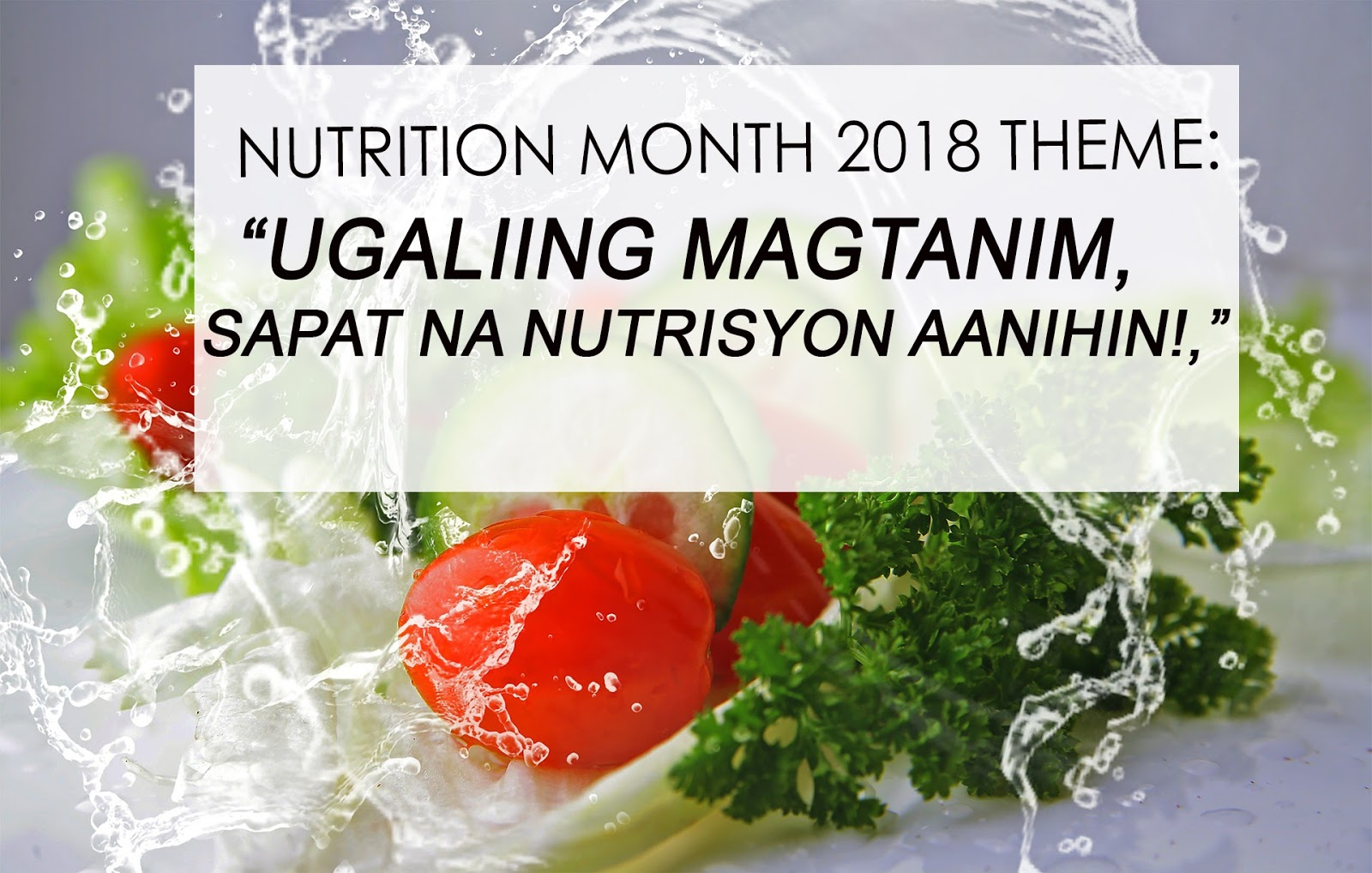 All About Nutrition: Nutrition Month Theme 2018 Logo Deped