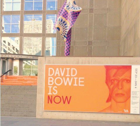 David Bowie Is poster at Museum Contemporary Art Chicago by Hello Lovely Studio