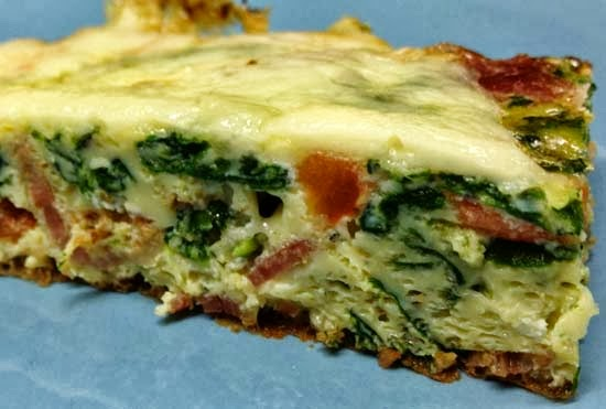 Bacon, Tomatoes, and Spinach Frittata