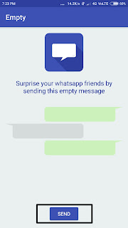 Send Empty Message In WhatsApp